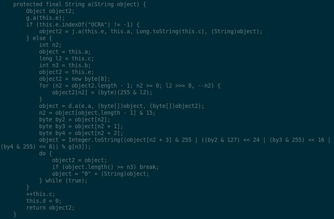 Hacking Safenet MobilePass OTP token